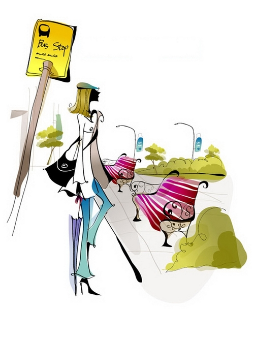 Fashion women illustration vector