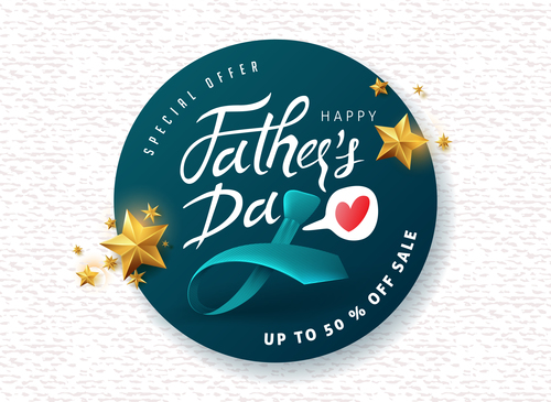 Fathers day merchandise half price sale vector