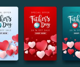 Fathers day sale banner vector