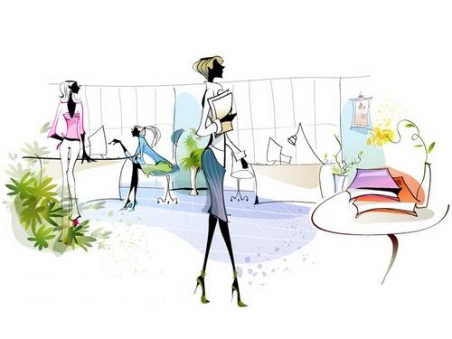 Female employee illustration vector