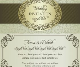 Festive wedding vector invitation card
