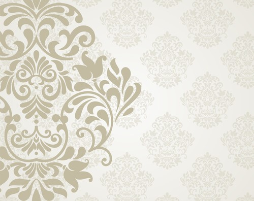Floral ornaments pattern vector