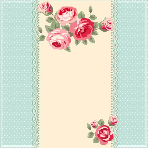 Flower decoration wedding invitation vector