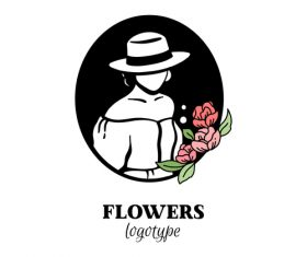 Flowers logo vector