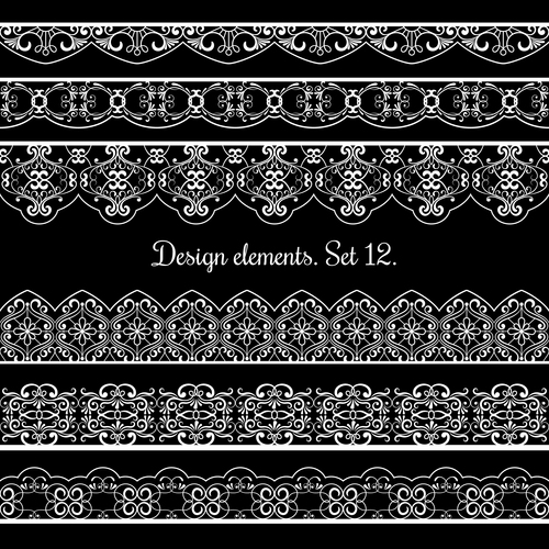 Frame elements for beautiful cards design vector