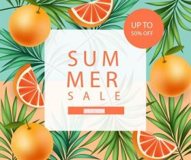 Fresh fruit sale flyer vector