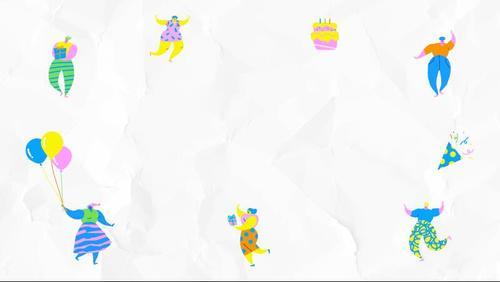 Friends enjoy a birthday party vector