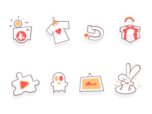 Fun game Icons vector
