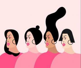 Funny woman cartoon illustration vector