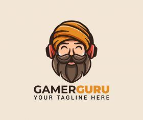 Gaming guru mascot icon design vector