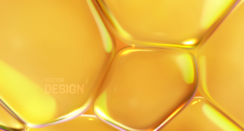 Geometric golden liquid abstract background vector