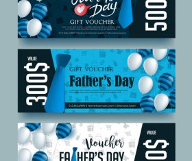 Gift voucher fathers day vector