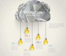 Golden idea infographic concept vector