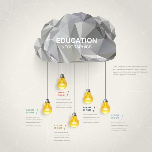 Golden idea infographic concept vector