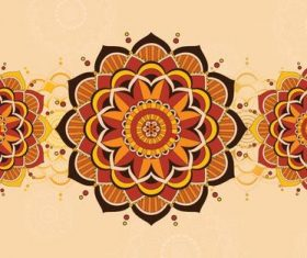 Golden mandala background pattern vector