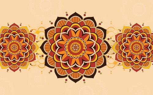 Golden mandala background pattern vector