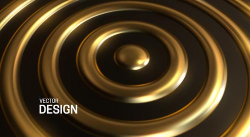 Golden sphere abstract background vector