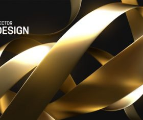 Golden strips abstract background vector