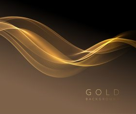Golden wavy background vector