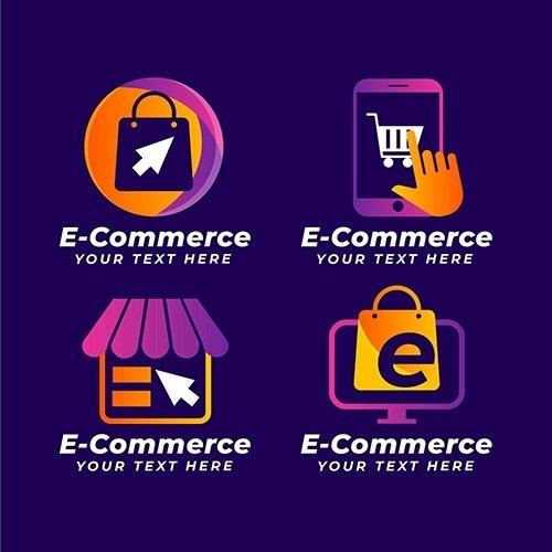 Gradiente commerce logo collection vector