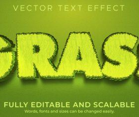 Grass font editable font vector