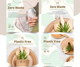 Green environmental protection theme illustration vector
