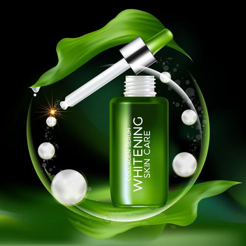Green plant essence vector
