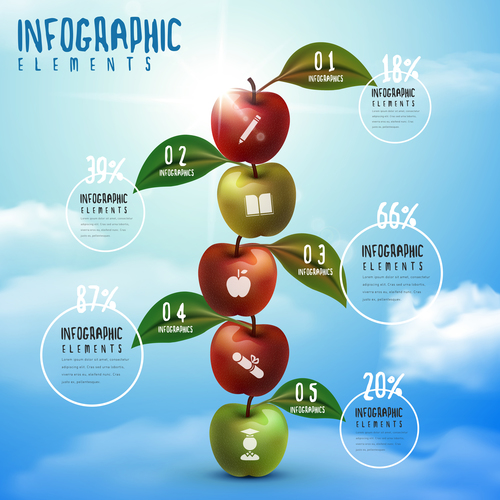 Growth education infographic concept vector