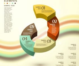 Half arc infographic vector