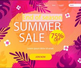 Half price sale flyer vector