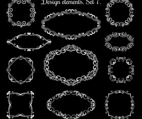 Hand drawing ornamental frames vector