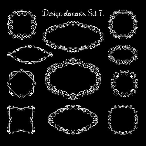 Hand drawing ornamental frames vector