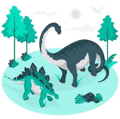 Hand drawn dinosaur illustration vector