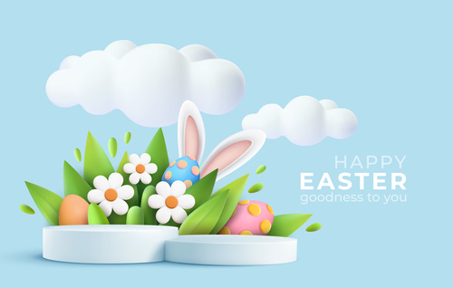 Happy easter goodness to you vector