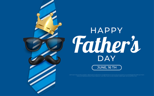Happy greeting card fathers day card vector