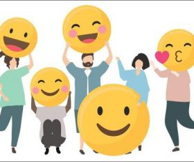 Happy people vector