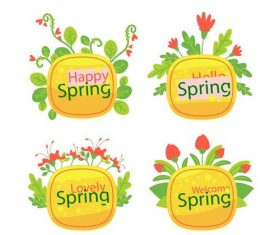 Happy spring card vector
