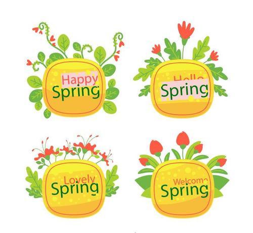 Happy spring card vector
