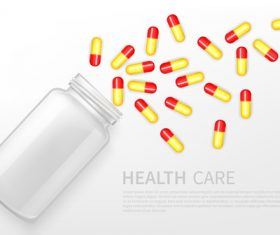 Health care pills icon vector