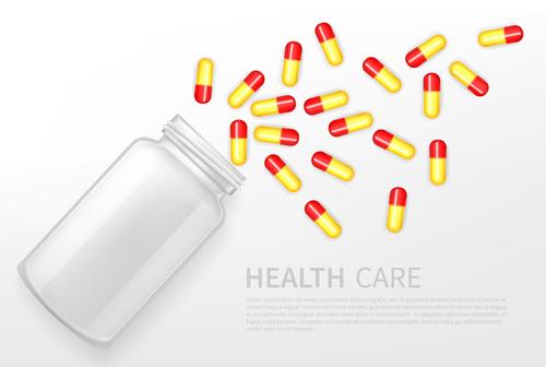 Health care pills icon vector