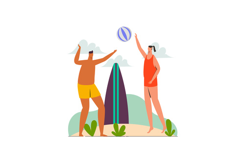 Holiday beach illustration vector