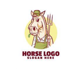 Horse farmer logo vector