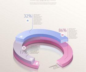 Horseshoe analysis infographic vector