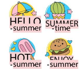 Hot happy summer vector