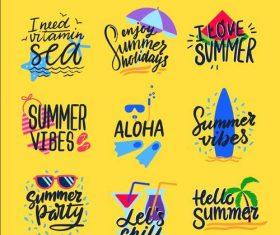 I love summer hand drawn vector