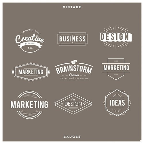 Illustration of badges collection vector