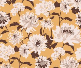 Indi pixi floral pattern vector