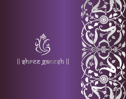 Indian ornaments pattern vector