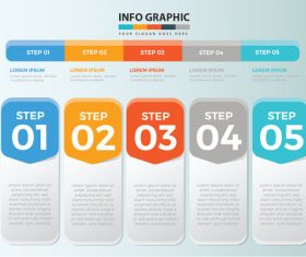 Info graphic design vector