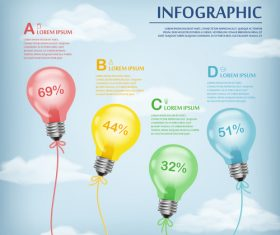 Infographic template concept vector design